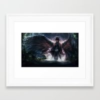 grace Framed Art Prints featuring Grace by jasric