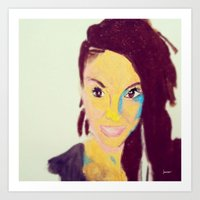 caitlin hackett Art Prints featuring Caitlin #facesilove by LAURENBROOKESANCHEZ Art & Photography