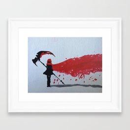 RWBY Rose Framed Art Print