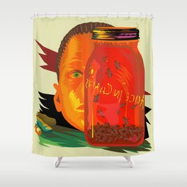 Alice in Chains - Jar of Flies  (Rock Album Cover) Shower Curtain