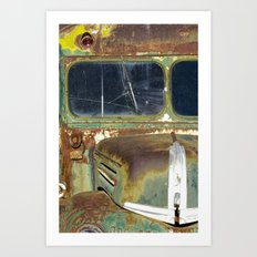 Vintage Ford Bus Abstraction Art Print