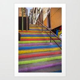 Stairs of Valparaiso Art Print