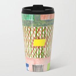 Friendly Pattern Mix On Pink Travel Mug