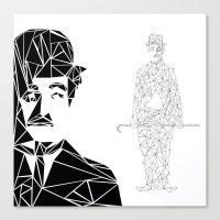 chaplin Canvas Prints featuring CHAPLIN by ARCHIGRAF