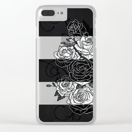 Inverted Roses Clear iPhone Case