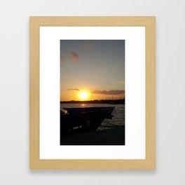 Sunset in Cozumel Framed Art Print