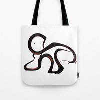 dino Tote Bags featuring Dino by Je Nie Fleming