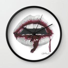 Avidità / Greed - Blood Lips - Mouth Wall Clock