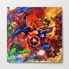 the fight against all selfishness Metal Print