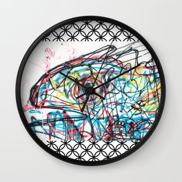 Eye 2 colour Wall Clock