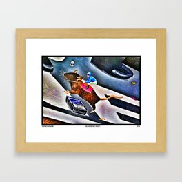 Gallaher's Rat Jockey Framed Art Print