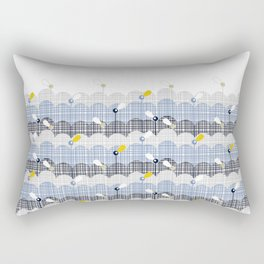 retro flower field 2 Rectangular Pillow
