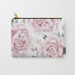 Coaral Watercolor Roses Carry-All Pouch