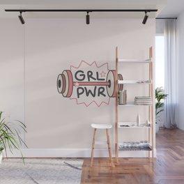 Girl Power lifts Wall Mural