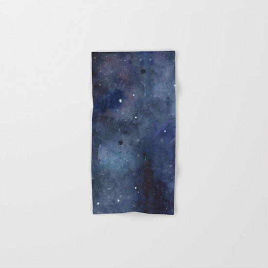 Night Sky Stars Galaxy   Watercolor Nebula Hand & Bath Towel