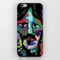 dave grohl iPhone & iPod Skins featuring Self portrait as Dave Grohl by brett66