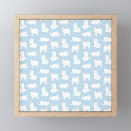 Samoyeds Print Framed Mini Art Print