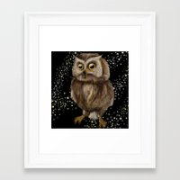 hedwig Framed Art Prints featuring My Hedwig by Mathis Designs