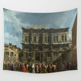 The Feast Day of St Roch by Canaletto Wall Tapestry