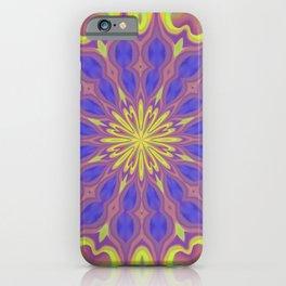 Groovy baby mandala iPhone Case
