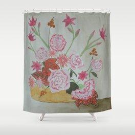 Ikebana Mediterranean Flowers Shower Curtain