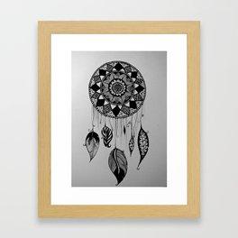catch your dreams - pattern art Framed Art Print