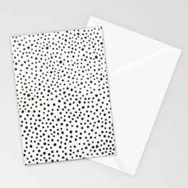 Black Dots Abstract 1 Stationery Cards