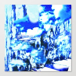 Distorted Clouds Canvas Print