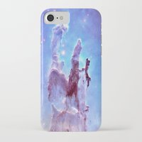 thanos iPhone & iPod Cases featuring nEBulA Pastel Blue & Lavender by 2sweet4words Designs
