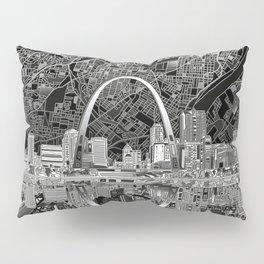 st louis city skyline map Pillow Sham