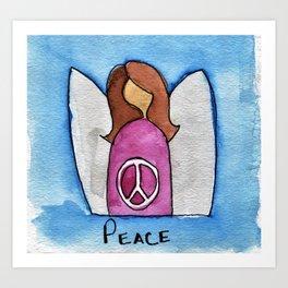 Peace Angel Art Print