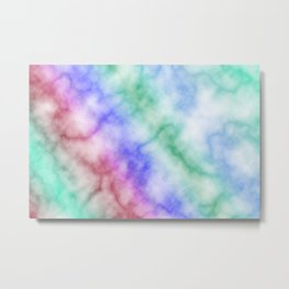 Rainbow marble texture 6 Metal Print