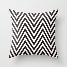 Scandinavian geometric black and white color pattern design Throw Pillow