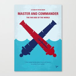 No1060 My Master and Commander minimal movie poster Canvas Print