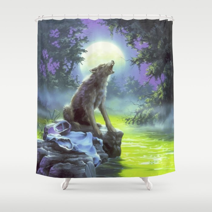 The Werewolf Of Fever Swamp Shower Curtain By Thelordofpatternz