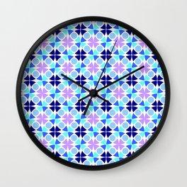 Symmetric patterns 189 blue and purple Wall Clock