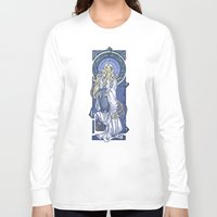 nouveau Long Sleeve T-shirts featuring Galadriel Nouveau by Karen Hallion Illustrations
