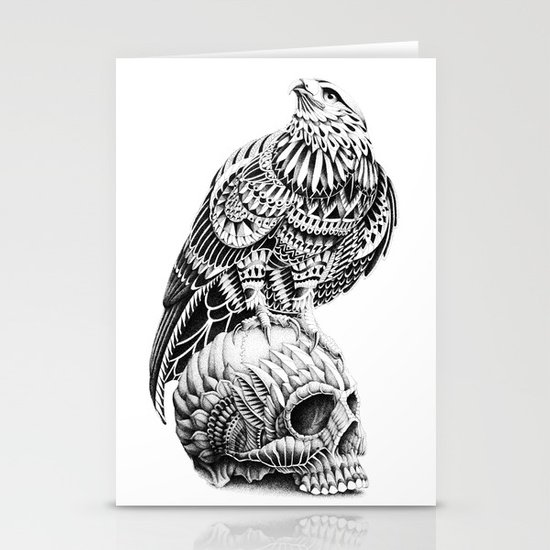 Red-Tail Skull Stationery Cards