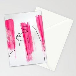 Pink Lady Sketch Stationery Cards