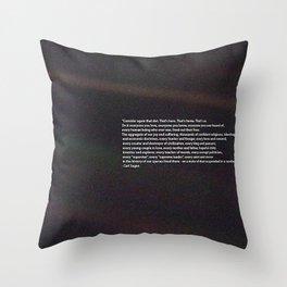 Carl Sagan Pale Blue Dot Quote Throw Pillow
