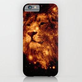 Cosmic Leo Lion iPhone Case