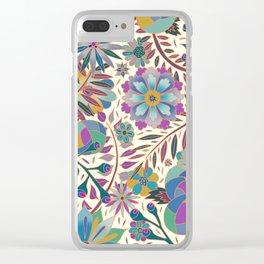 Purple Garden Clear iPhone Case