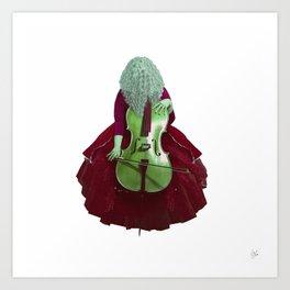 Ruby Cellist II Art Print