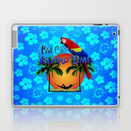 Island Time And Parrot Laptop & iPad Skin