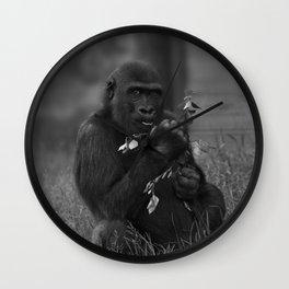 Cheeky Gorilla Lope Mono Wall Clock