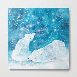 Dreaming polar bears Metal Print