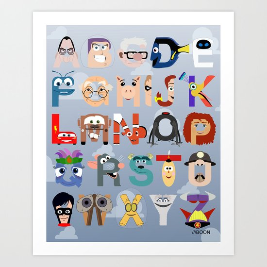 P is for Pixar (Pixar Alphabet) Art Print