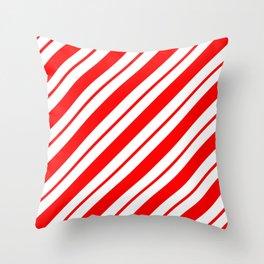 Peppermint Stripes Throw Pillow