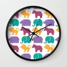 Fun at the Zoo: Pattern Wall Clock
