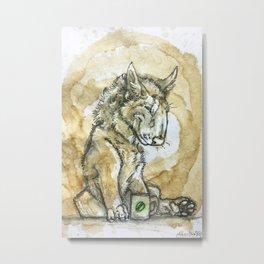 Latte Lycans - Green Bean Metal Print